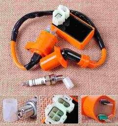 2019 racing ignition coil orange 6 pin cdi box spark plug for gy6 50cc 70cc 90cc 125cc 150cc scooter go kart moped qmi157 from zwell co ltd  [ 1110 x 1110 Pixel ]