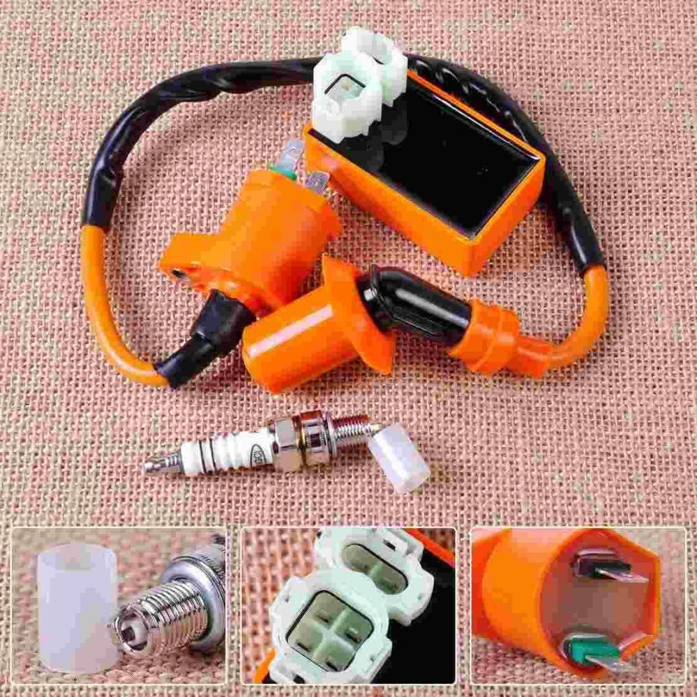 medium resolution of 2019 racing ignition coil orange 6 pin cdi box spark plug for gy6 50cc 70cc 90cc 125cc 150cc scooter go kart moped qmi157 from zwell co ltd