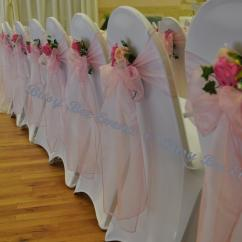 Chair Covers With Pink Bows Music Potty Tulle 2015 Wedding And Sashes Bow Back