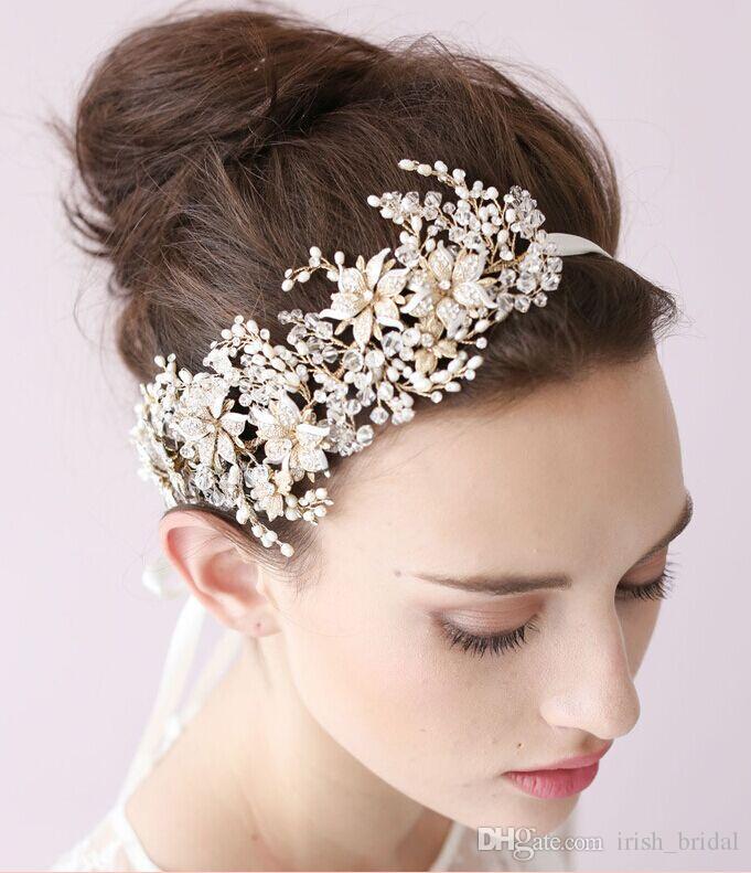 2015 Vintage Crystal Bridal Headpiece Headband Bridal Hair
