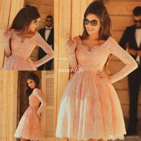 2015 Cheap Short Homecoming Dresses Lace with Long Sleeves ...