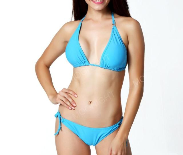 W1023 Women Beach Bandage Push Up Blue Bikini Set Cute Girl Hot Sexy Solid Halter Swimwear Swimsuit Uk 2019 From Lizhang 29 Dhgate Uk