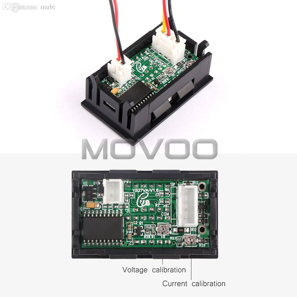 medium resolution of wholesale 2in1 digital voltmeter ammeter dc 0 100v 50a dual display volt amp meter dc 12v 24v red blue voltage meter ampere meter shunt ammeter shunt