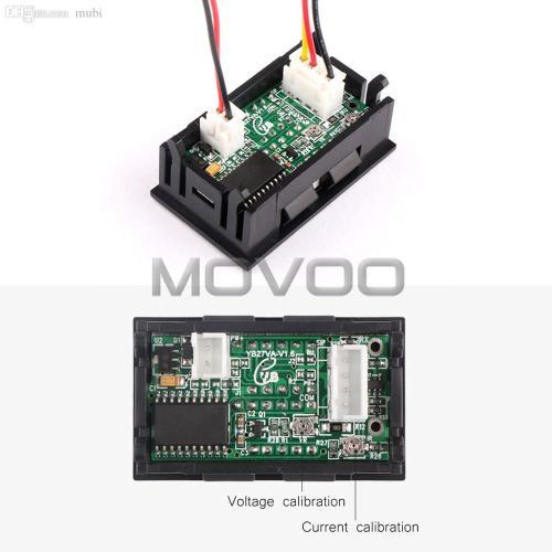 small resolution of wholesale 2in1 digital voltmeter ammeter dc 0 100v 50a dual display volt amp meter dc 12v 24v red blue voltage meter ampere meter shunt ammeter shunt