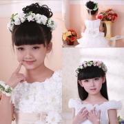 elegant children girl flower