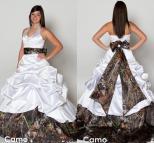 Plus Size Camo Wedding Dress