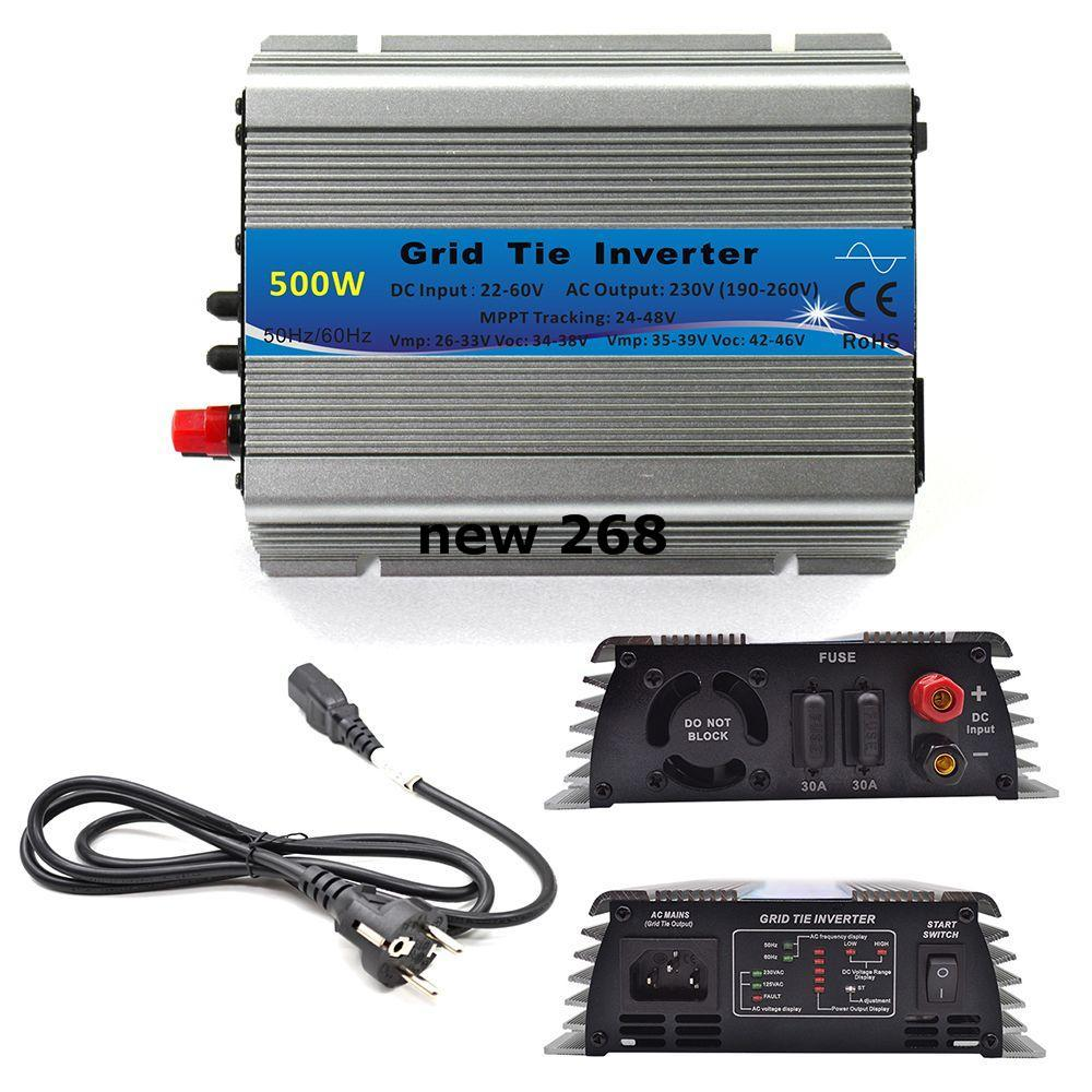 medium resolution of 500w grid tie inverter mppt function 22 60vdc input to 110v or 230vac pure sine wave inverter 500w solar power inverter electrical inverter portable