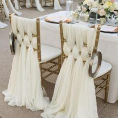 Ivory Wedding Chair Covers For Sale Slipcovers Bar Chairs Chiffon Sashes Party Deocrations Bridal Sash Bow Custom-made ...