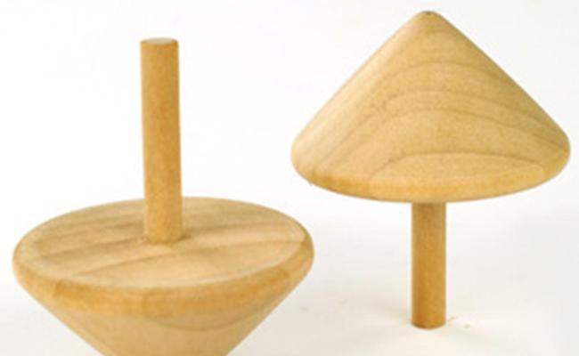 Traditional Nostalgic Wooden Toys For Children Rotating