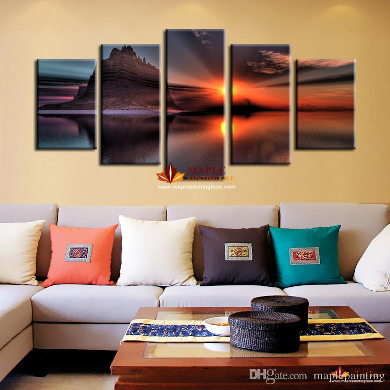 living room art wall restaurant abu dhabi home decoration painting of seascape artwork for modern decor canvas canada 2018 from maplepainting