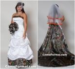 Camo Wedding Dresses with Orange
