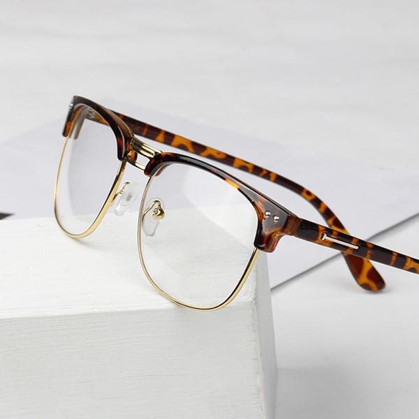Image result for leopard print half print nerd frames