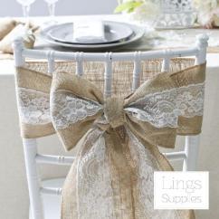 Burlap Chair Covers For Sale Spandex Near Me 275 X 15cm Lace Sashes Cover Hessian Jute Linen Rustic Cheap Waist Best Sash