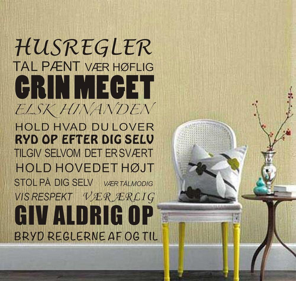 House Rules Stickers Wall Decal Removable Art Vinyl Home Decor Wall ...
