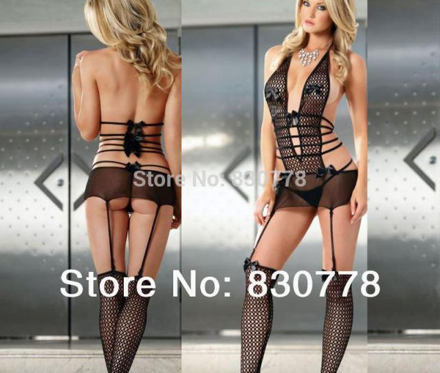Sexy Lingerie Charming Black Lace Porn Teddy For Lady Night Wear Perspective Bodysuit Leotard Game Underwear For S68810 Pajamas For Womens Pajamas Ladies