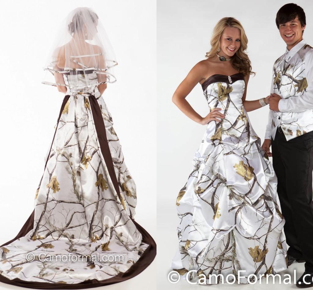 Discount Camo Wedding DressesWinterwhite Sweetheart Ball