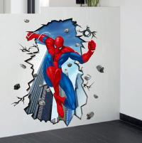 Details About Super Hero Spider Man Mural 3d Wall Sticker ...