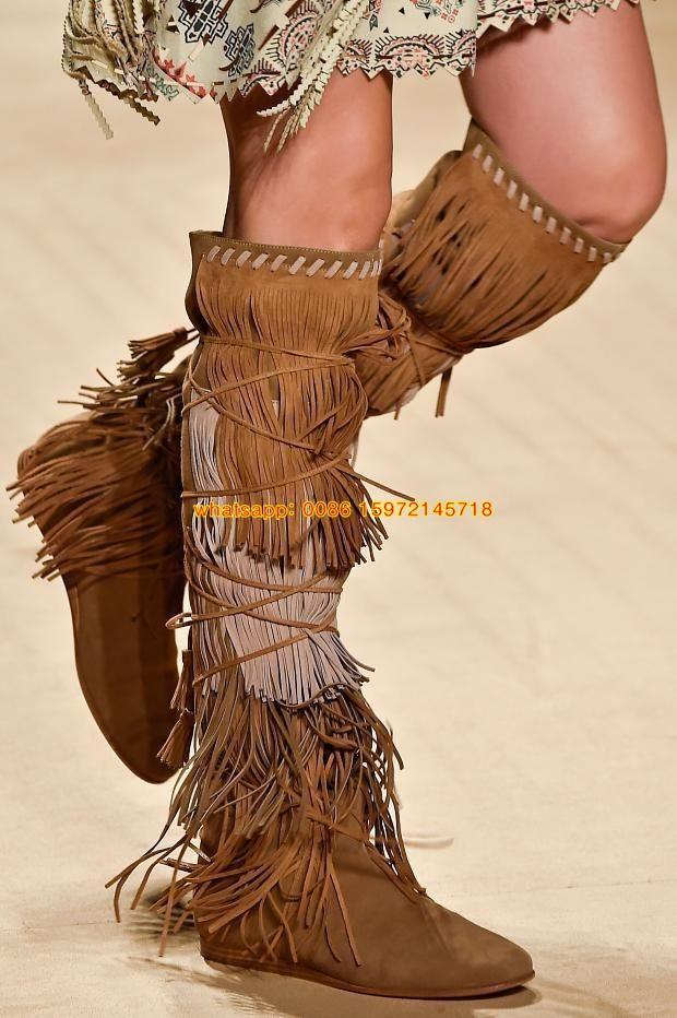 Women Bohemian Kneed Boots Gypsy Spirit Style Knee High