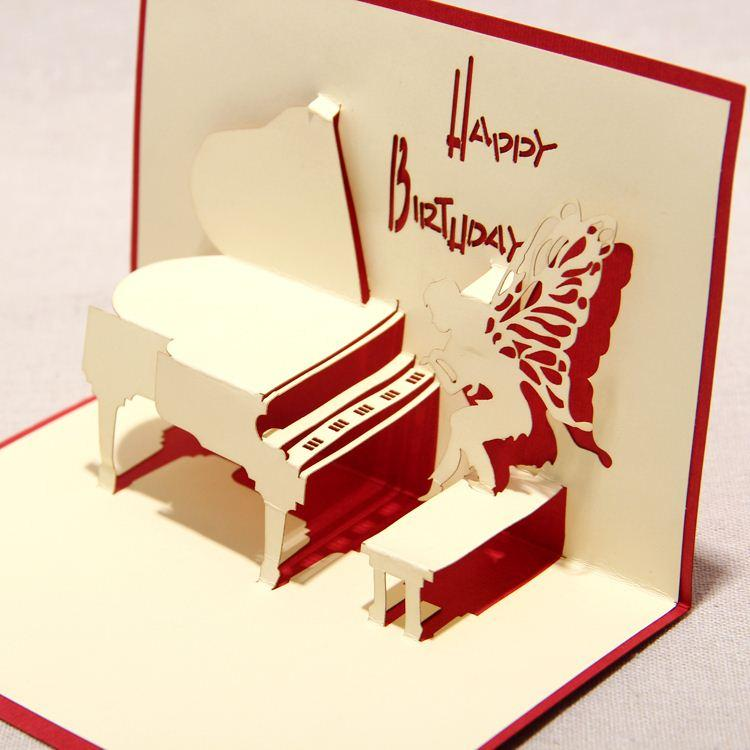 2015 New 3D Handmade Card Greeting Cards Red Amp Blue