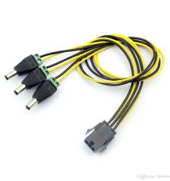 f23003 pw 068 6pin to dc power connector pci e pci express pcie famale to male cable adapter 6p to 6 dc power cable wire cord 40cm electronic components of  [ 1100 x 1100 Pixel ]