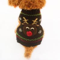 2017 Army Store Christmas Deer Pattern Knit Dog Sweater ...