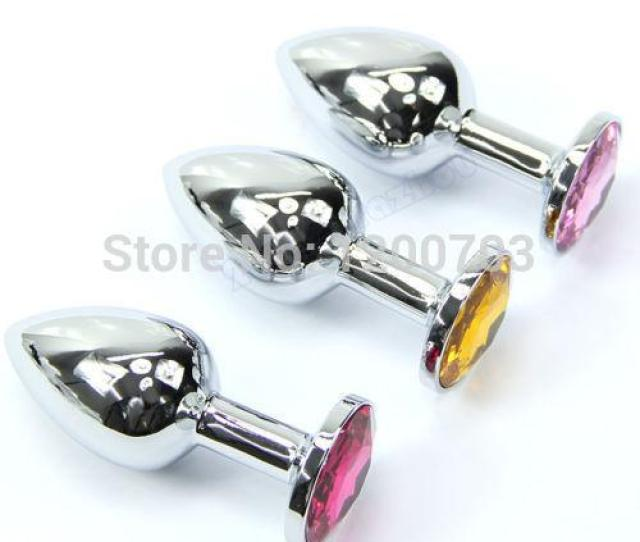 C18 Butt Toy Plug Anal Insert Stainless Steel Metal Plated Jeweled Sexy Stopper S Toys Amazing Toy Offers Toy Pen Online With 7 66 Piece On Mingqiaozj575s