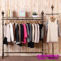 2018 Young Wrought Iron Clothing Rack Clothing Store ...