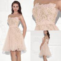 2016 Elegant Coral Short Bridesmaid Dresses Backless Short