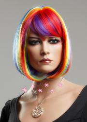 cheap rainbow colored wig personality