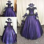 Purple and Black Gothic Wedding Dresses