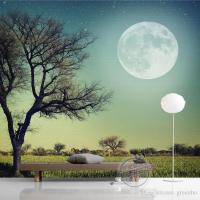 Trees Moon Photo Wallpaper Custom 3D Wallpaper Natural ...