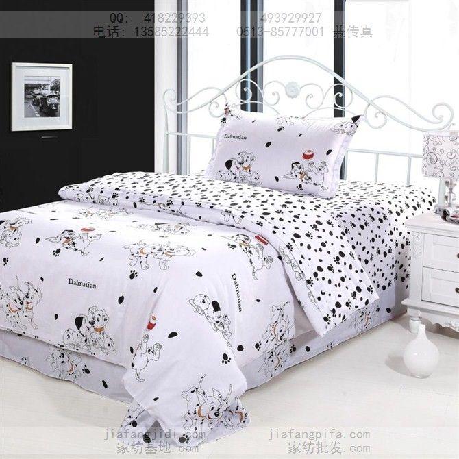 Dog Print Bedding Sets Cotton Bed Sheets Bedspread Kids