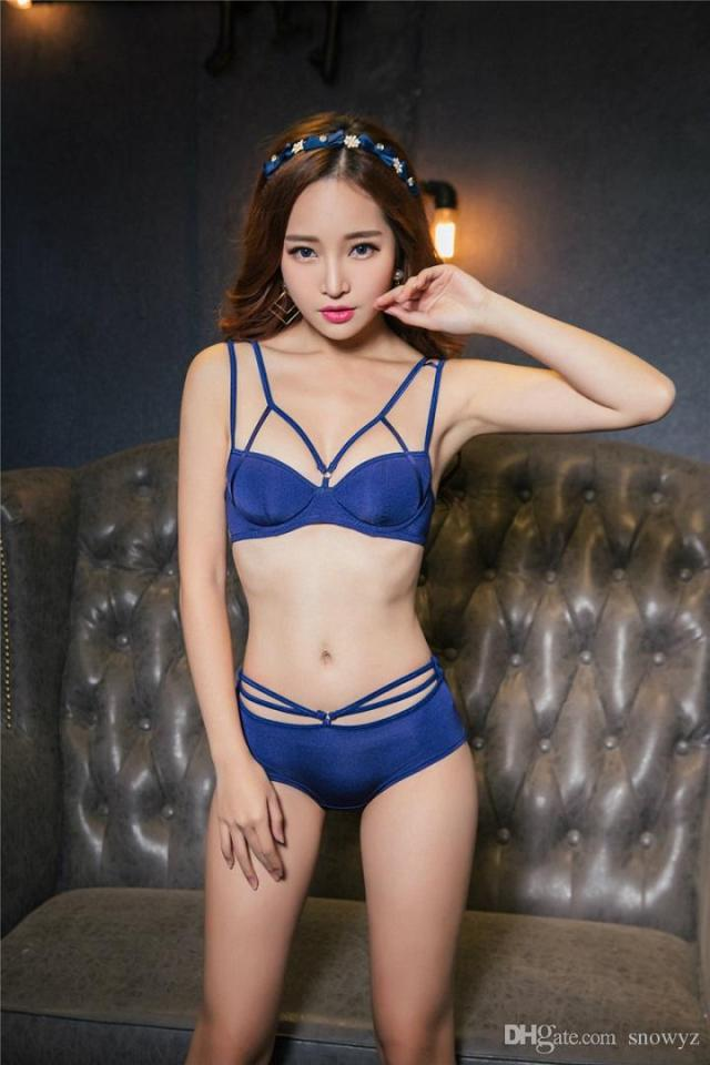 2019 Sexy Bra Panty Set Special Design Hot Girls Photos Before The Cross Cut Sexy Back Gather Bra Set From Snowyz 21 16 Dhgate Com
