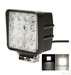 4 inch square 48w led work light off road flood lights truck lights cap light besides square led fog lights on 4 led shop light wiring [ 1300 x 1300 Pixel ]