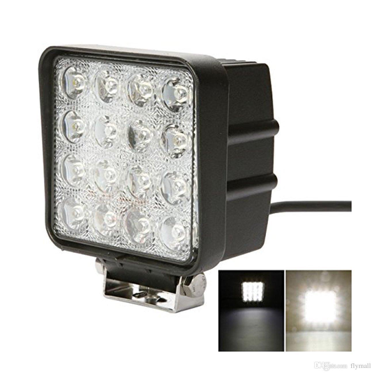 hight resolution of 4 inch square 48w led work light off road flood lights truck lights cap light besides square led fog lights on 4 led shop light wiring