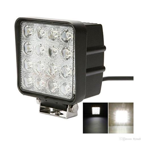 small resolution of 4 inch square 48w led work light off road flood lights truck lights cap light besides square led fog lights on 4 led shop light wiring