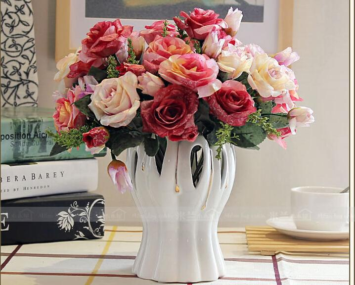 living room flowers country style table lamps flower arrangement floral european decorative ceramic vase black vases cheap from cn1001089116 33 19 dhgate com