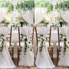 Wedding Chair Sash Mesh Folding Chairs Outdoor 2019 2018 White Sashes For Weddings 30d Chiffon 200 65 Cm Covers Chiavari Diy Style From Yate 2 37 Dhgate Com