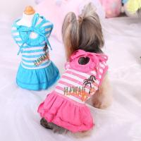 2017 Small Pet Dog Striped Dress Apparel Cute Chihuahua ...