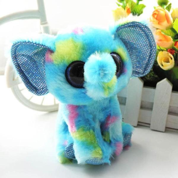 2017 6'' Cute Small Plush Elephant Beanie Boos Ellie Soft Dolls Big Eyes Stuffed Animals Ty Toys