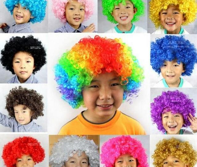 Children Clown Wigs Fun Wigs Party Wigs Masquerade Halloween Christmas Carnival Party Costume Explosion Head Clown Hair Wig Children Hair Accessories Hair