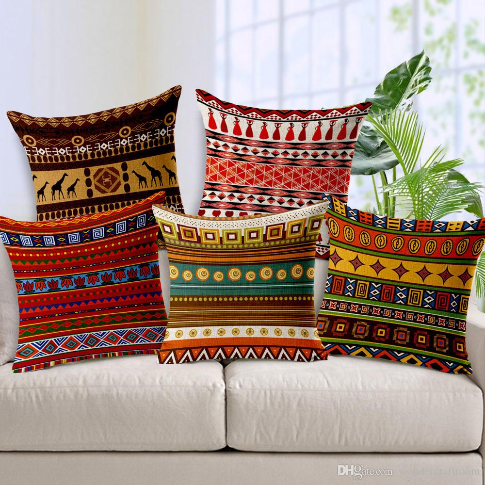chair covers wholesale uk ipswich exotic african culture art cushion cover geometric stripes plaids africa woman dance ...