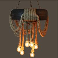 Tire Rope Chandelier E27 Lamp Rope Pendant Lamps Indoor ...