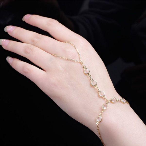 2019 European Style Gold Chain Women' Bracelet With
