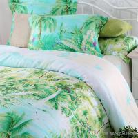Blue Green Turquoise Bedding Sets Queen King Size Palm ...