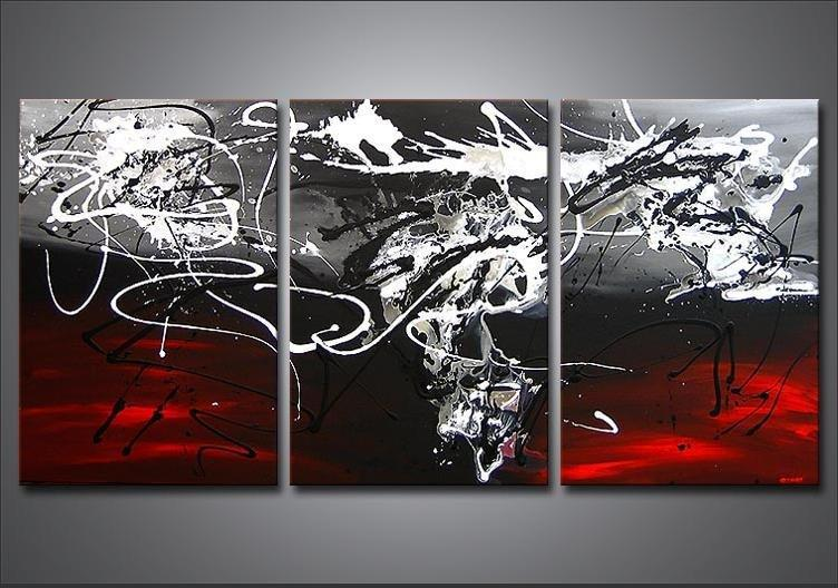 red white and black wall decor