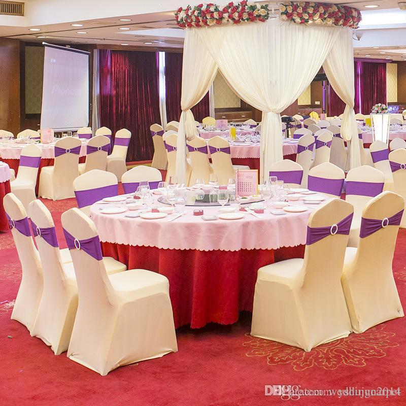 universal wedding chair covers sale posture seat support white spandex lycra for banquet hotel decoration hot wholesale
