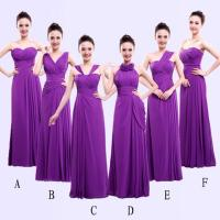 Different Styles Long Bridesmaid Dresses For Cheap Chiffon ...