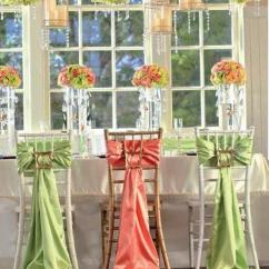 Green Banquet Chair Covers Queen Throne Two Color Orange And Satin Wedding Decorations Ribbon Cover Ties Long Romantic Party Sash Sashes