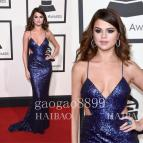 Selena Gomez 2016 Grammy Awards Evening Dresses Deep